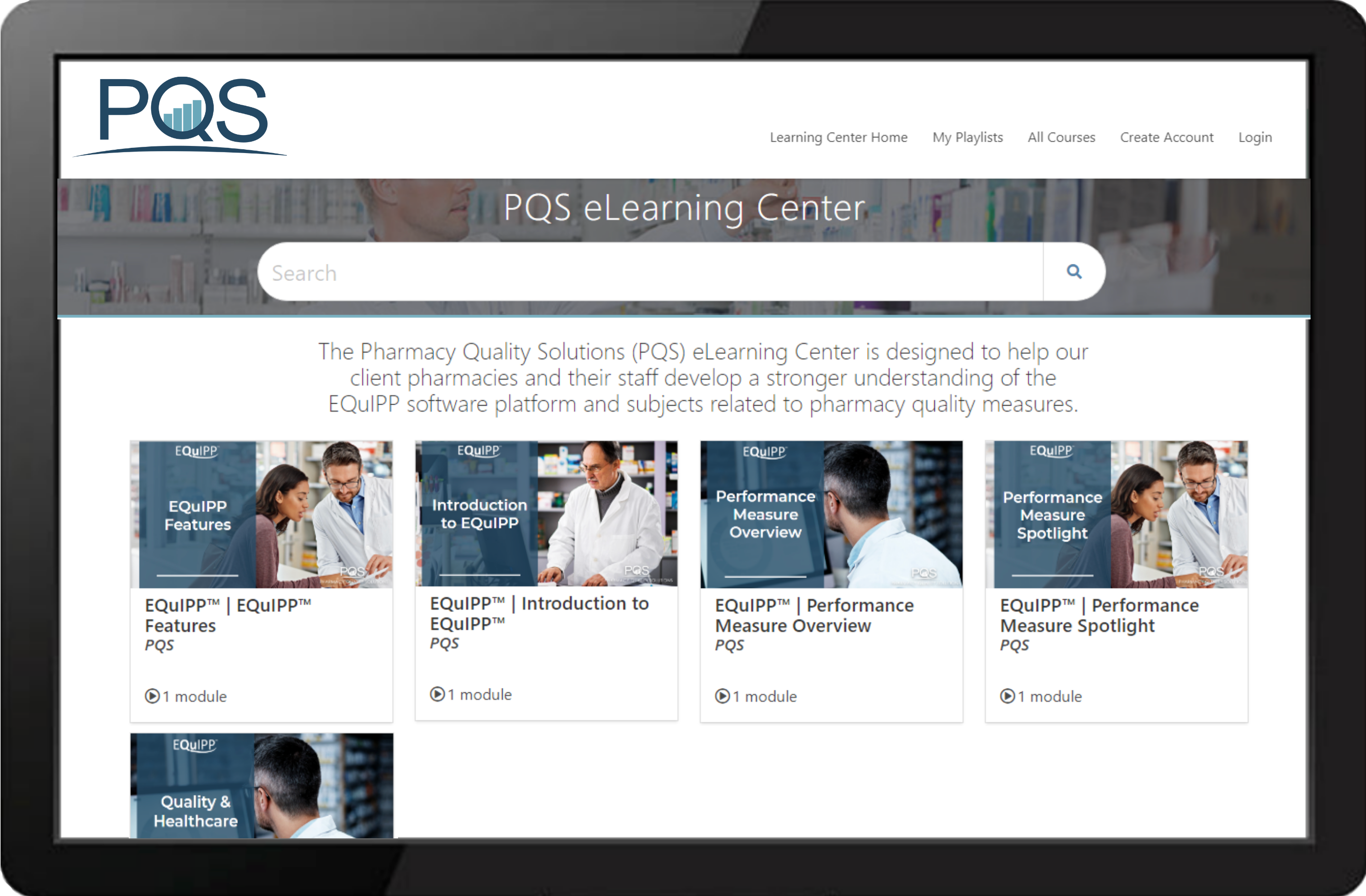PQS Learning Center Example