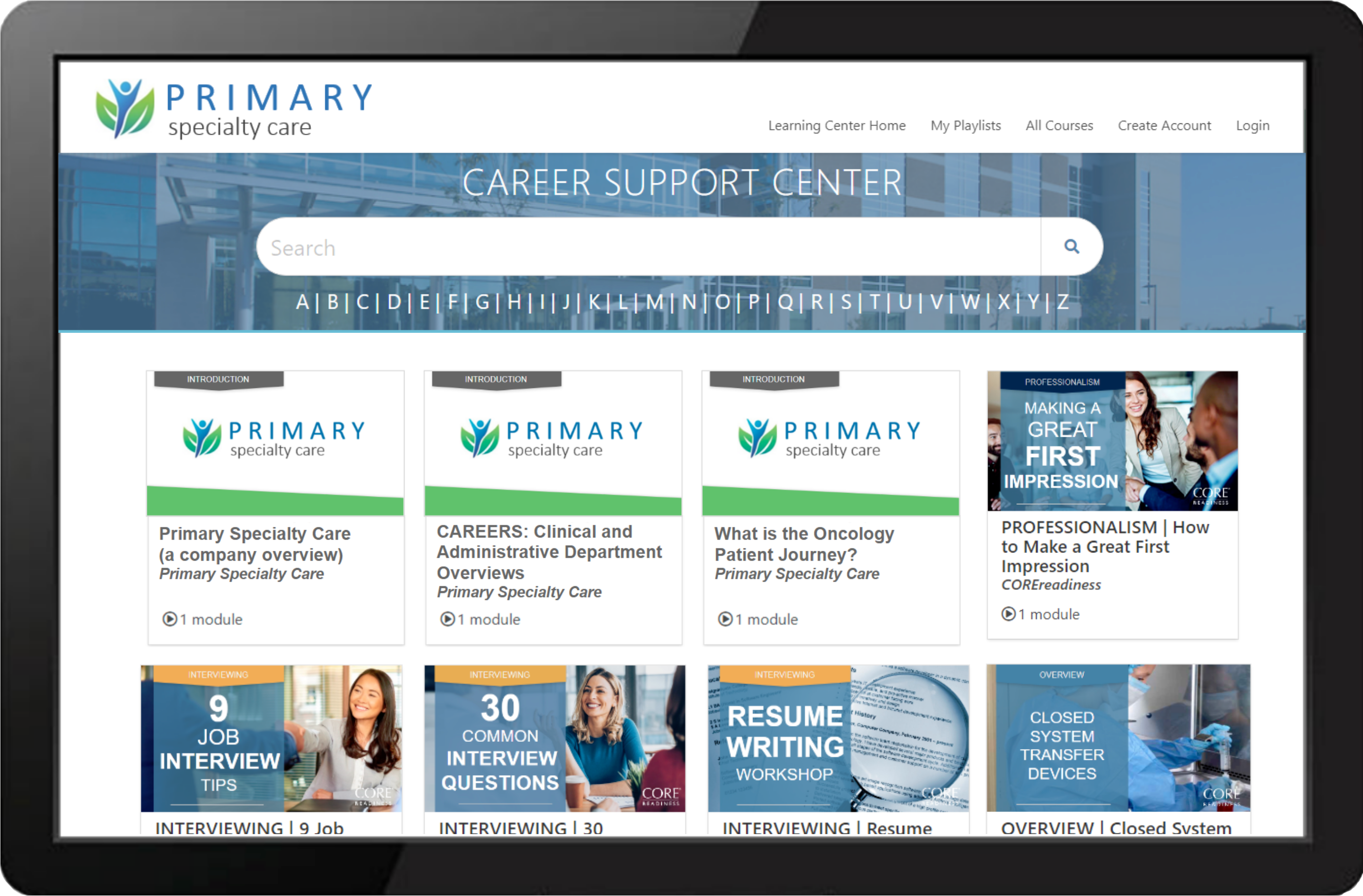 Primary Health Services Learning Center Example