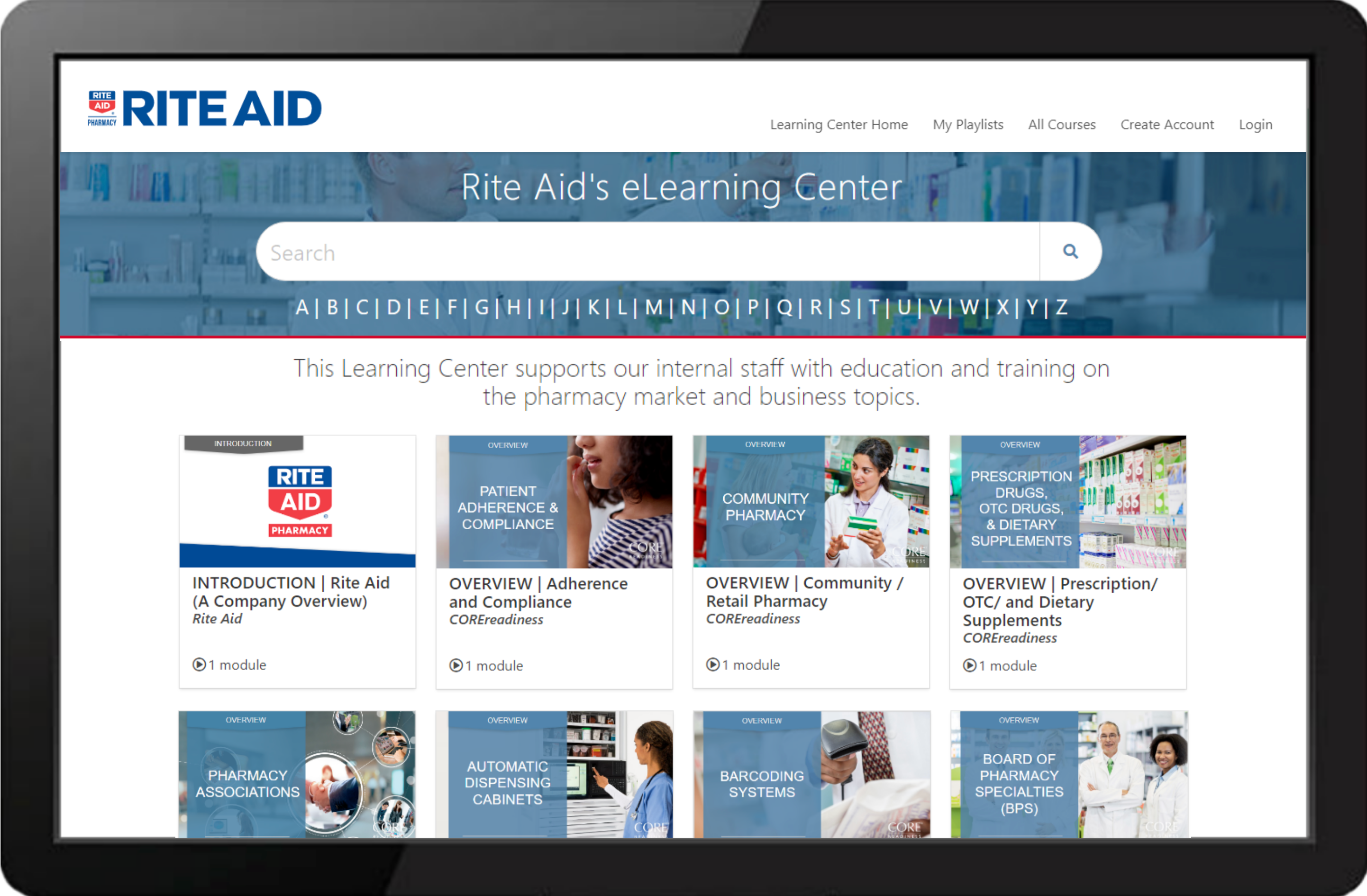 Rite Aid Learning Center Example