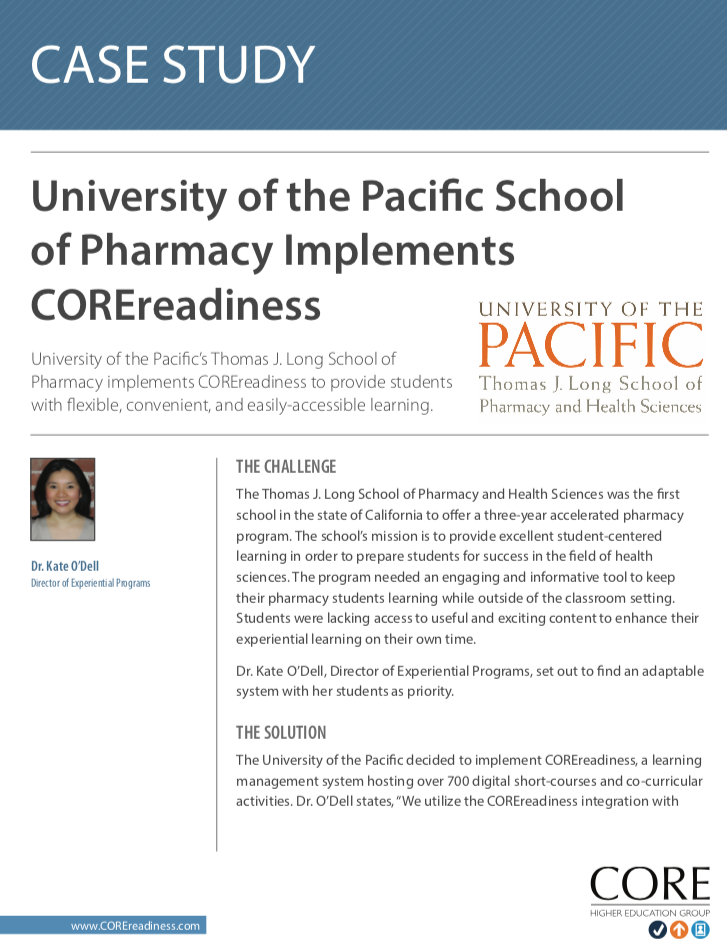 University of Pacific Case Study